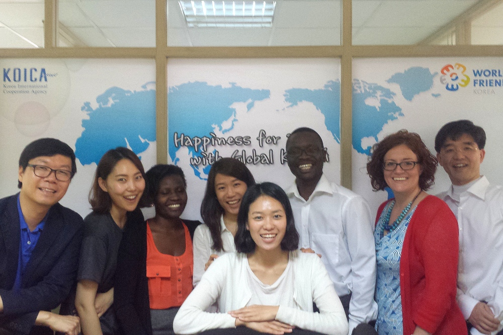 The KOICA and Mango Fund joint team in the KOICA Uganda office.