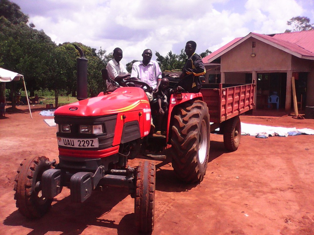 Bernard Obwoyo, the owner of Kabela Investments, a farming company that got financed a 92 horse power tractor within the KOICA-Mango Fund joint program.