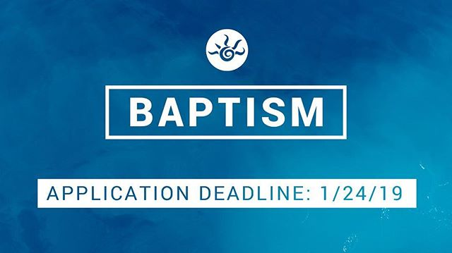 Ready to take your #nextstep? Baptism apps are due by noon on Thursday. We can't wait to hear from you! 🌊 💧 🌊  Download your application here:  http://www.dayspringchurch.com/baptism