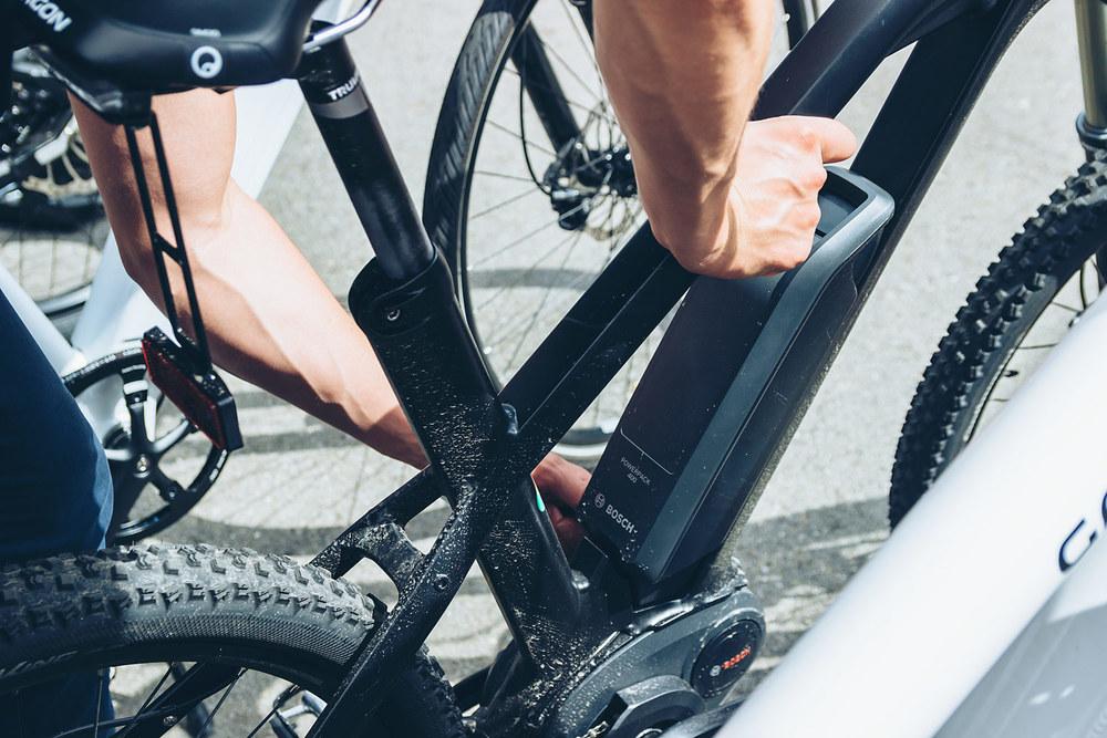 Bosch-Akku am GRACE MX II auf dem Testparcours der Fahrradmesse Eurobike