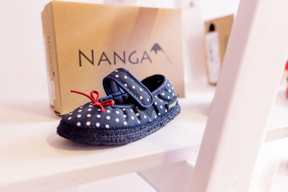 Nanga Kinderschuhe im Ausstellungsbereich der Babymesse