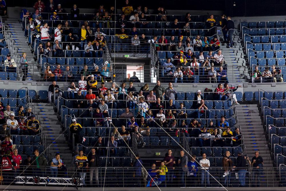 Eishockey Fans in der Kölner Lanxess-Arena