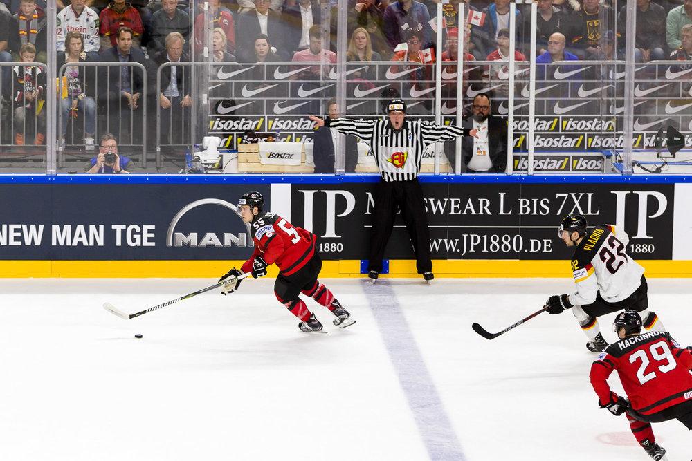 Eishockey Weltmeisterschaft Deutschland gegen Kanada