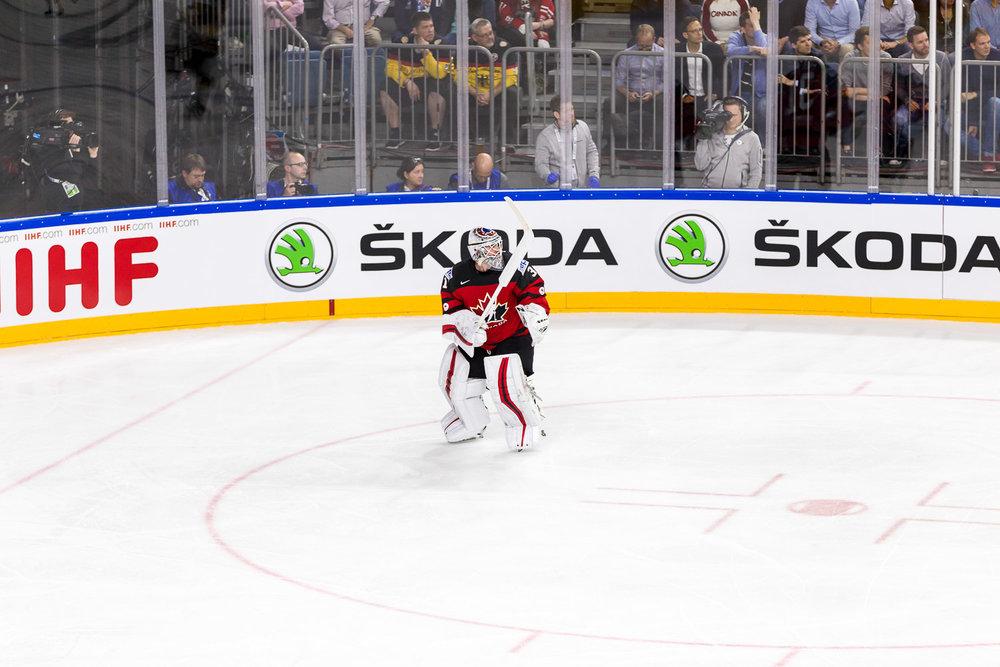 Der kanadische Eishockey Torwart bei der WM in Köln