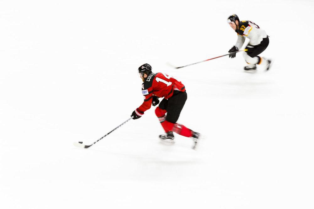 Mitzieher beim Viertelfinale der Eishockey WM