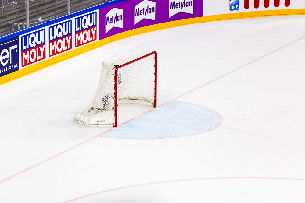 Empty Goal beim Viertelfinale Deutschland Kanada