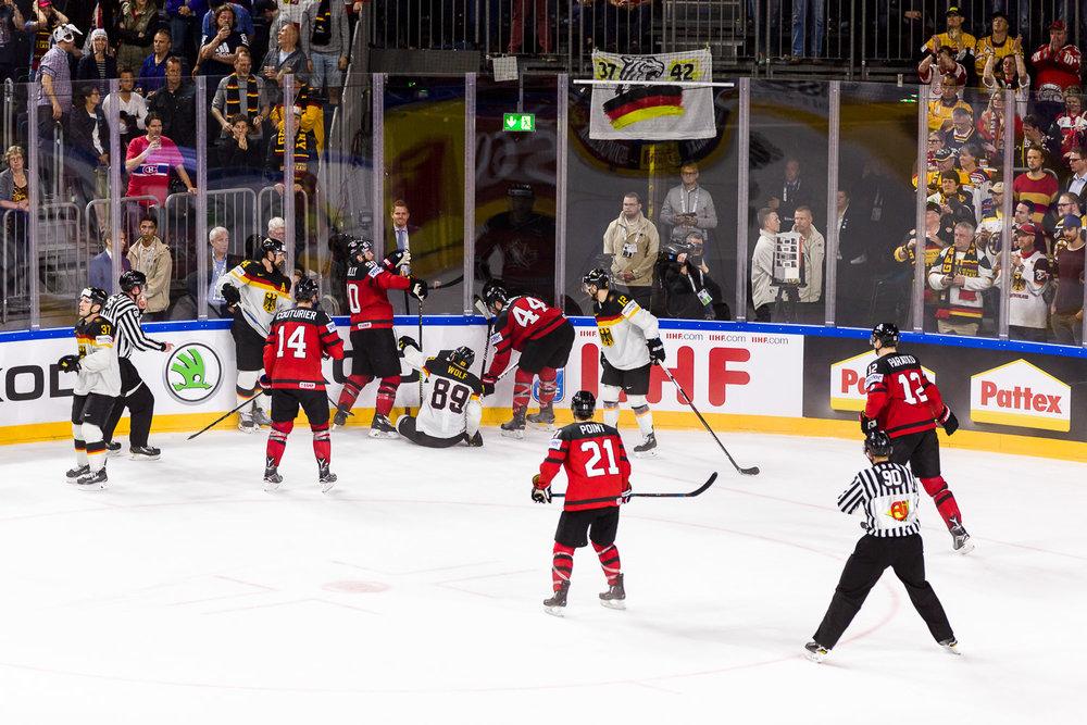 Weltmeisterschaft Viertelfinale Eishockey Deutschland Kanada