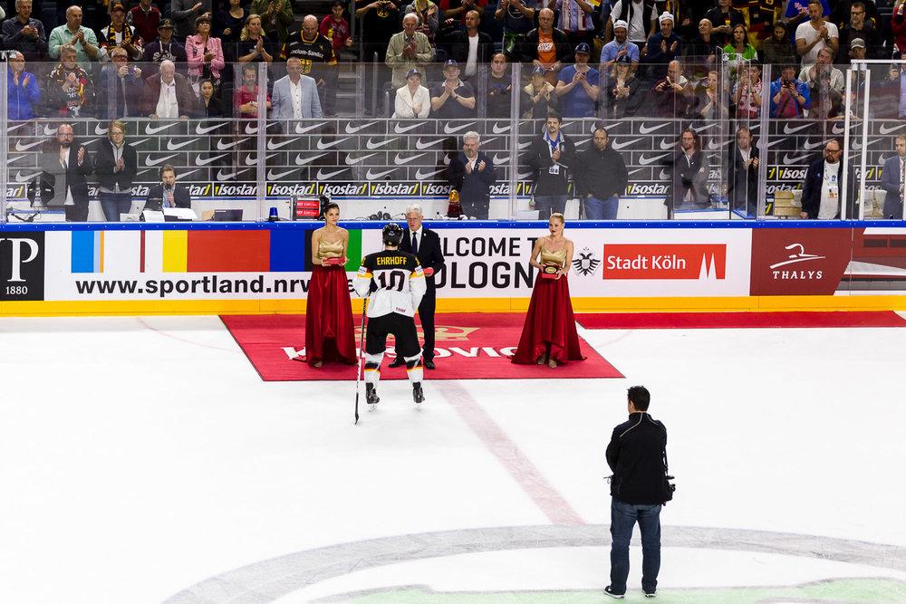 Ehrung der besten Spieler Ehrhoff Eishockey WM