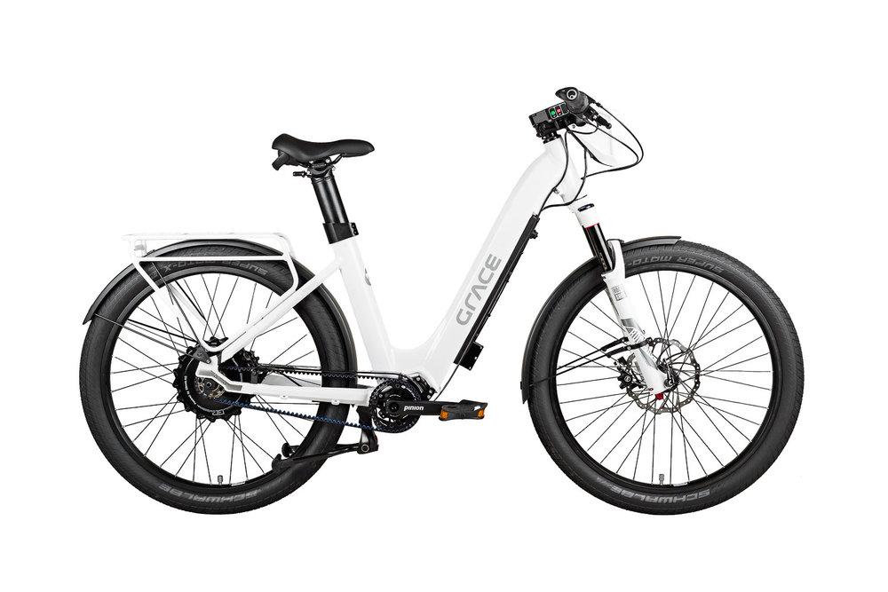 Produktfoto vom GRACE Urbanic ebike in Weiß der Sachsenring Bike Manufaktur GmbH Sangerhausen