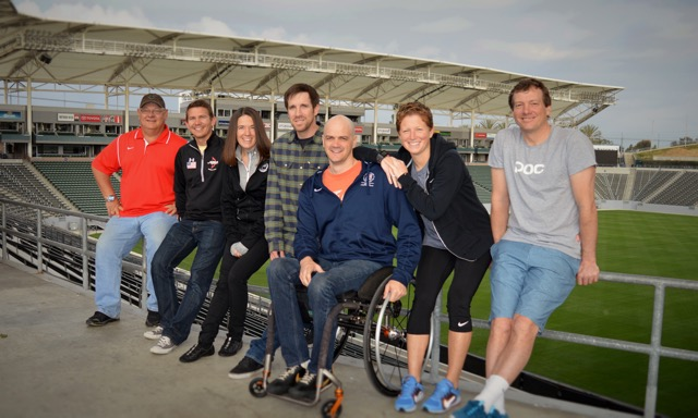 Team USA Coaches -from L-R: Dave Burgering (diving), Guy Krueger (archery), Teresa Skinner (Paralympic track & field), Mike Jankowski (snowboarding), Dave Denniston (Paralympic swimming),  Michelle French (women's soccer), Peter Foley (  snowboarding & skiing)
