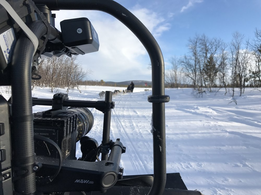The MOVI Pro, Red Epic and Cooke Mini S4 at work in the snow