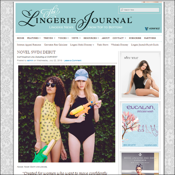 NOVEL SWIM THE LINGERIE JOURNAL