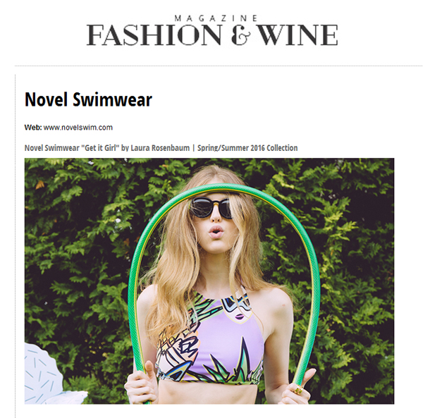 Novel Swimwear Fashion and Wine Magazine