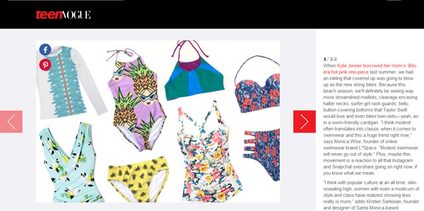 TEEN VOGUE ONE PIECES COVER UPS