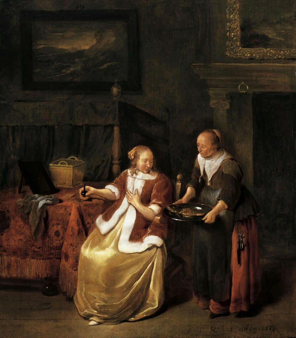 Brekelenkam - A Housewife and Maid2.jpg