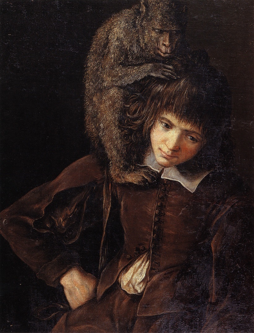 Fig 5b: Gottfried Libalt,  Boy with a Monkey , Art Gallery Lvov, Ukraine