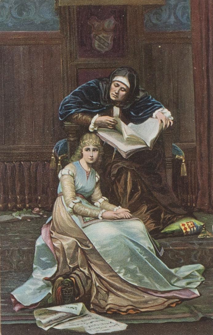 Postcard produced by Stengel & Co., Dresden of Le Cœur S'Éveille
