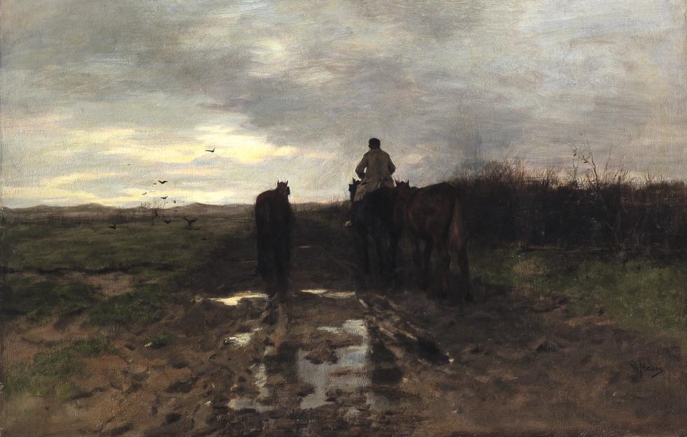 Anton Mauve,Homeward Bound.Image courtesy of Toledo Museum of Art, Toledo, Ohio.