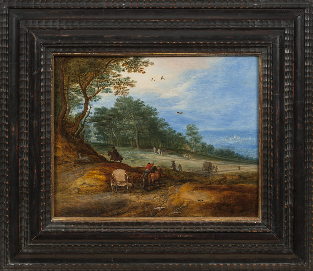 Brueghel II - Wooded Landscape framed.jpg