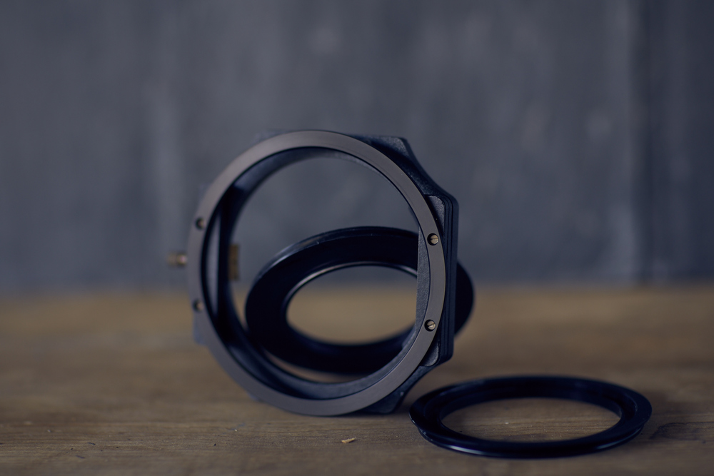 Lee filters foundation kit with 105mm filter holder attached