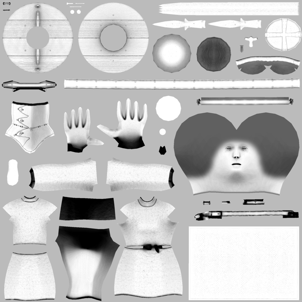 Ambient occlusion / cavity map