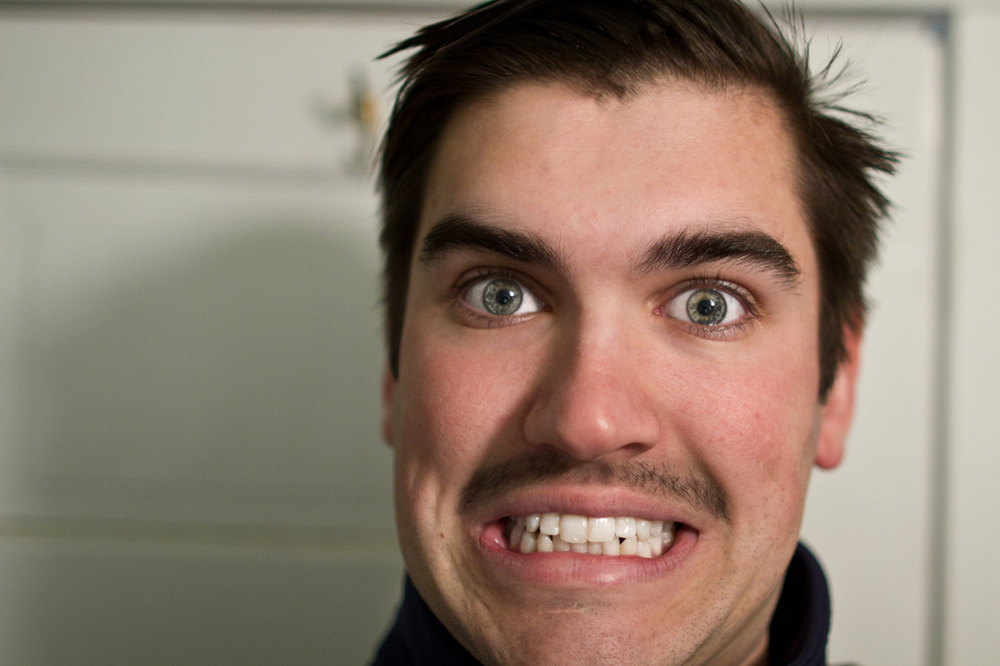 This is me ready for work. Still not 100% on keeping or shaving the mustache.. -Zach EOS 7D 24mm 1.4L II