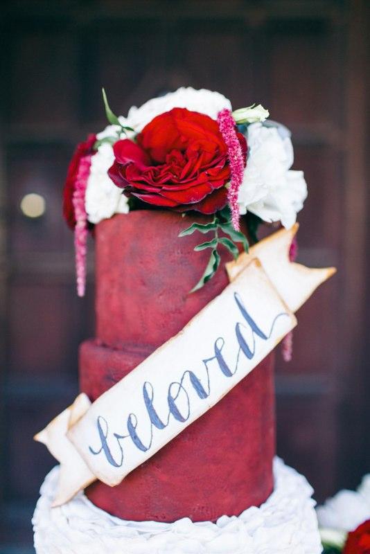 Beloved Rustic Sugar Flower Cake - Photo by Nikki Santerre