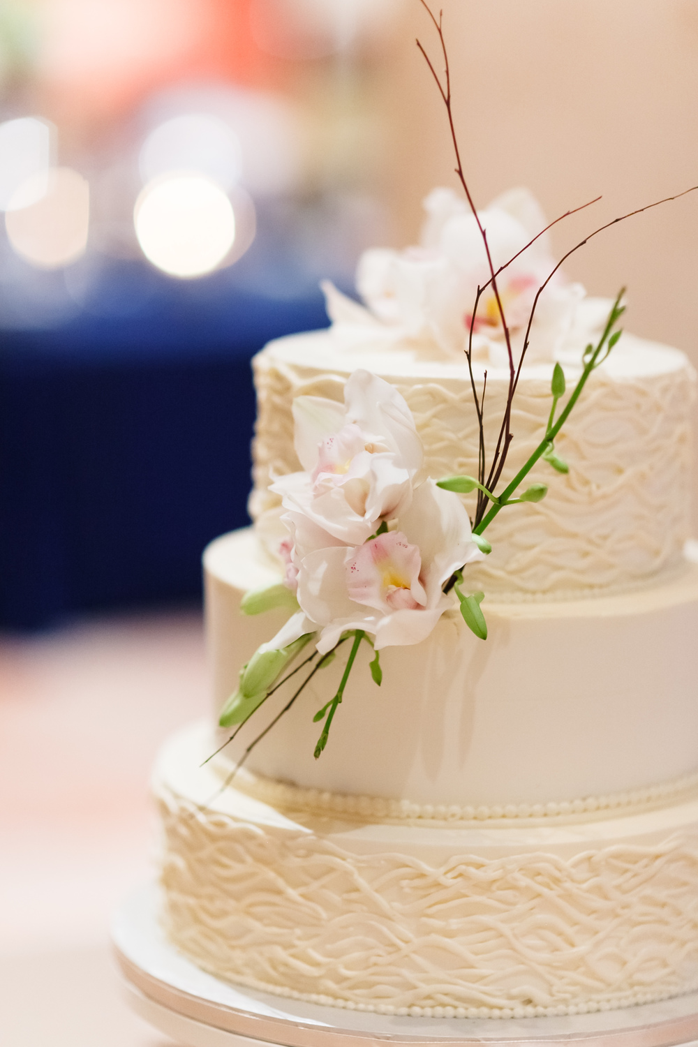 Waves Buttercream Wedding Cake - Photo by Don Mears Photography