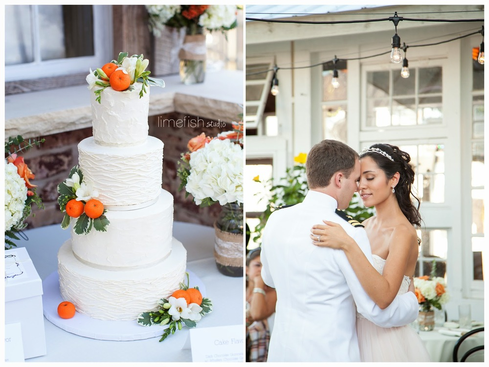 Orange Buttercream Wedding Cake - Photo by LimeFish Studio
