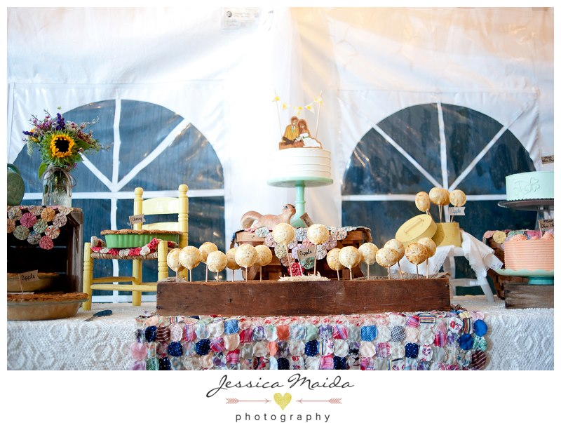 Vintage Cake and Pie Dessert Table - Picture by Jessica Maida Photography