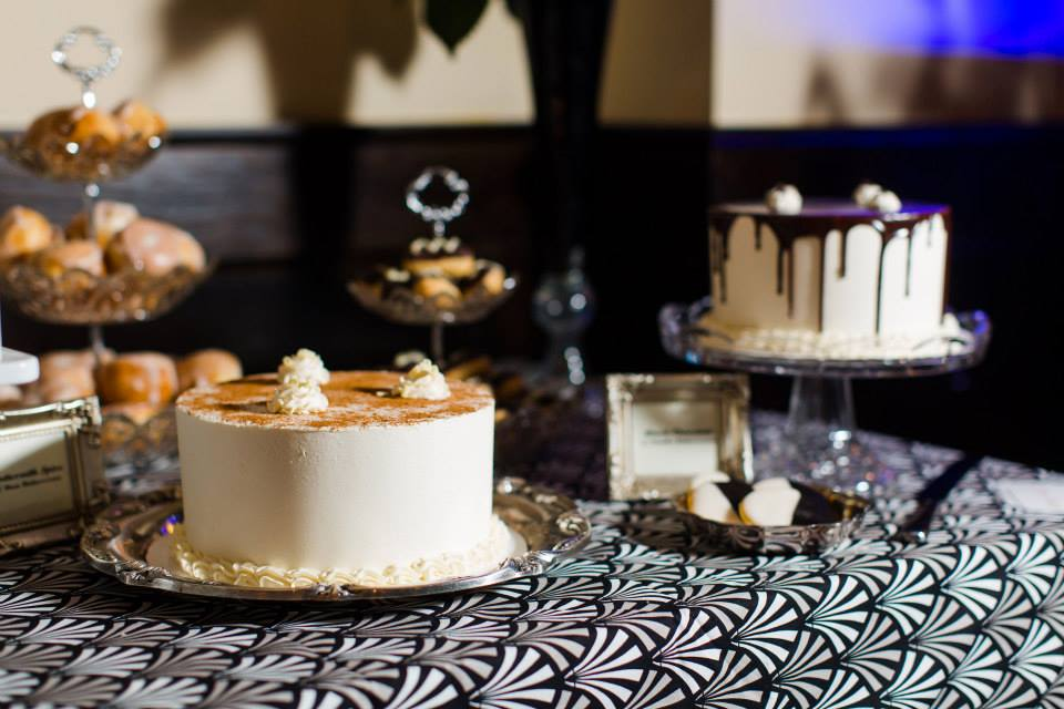 Art Deco Dessert Cake Table - Photo by AnnaMarie Akins