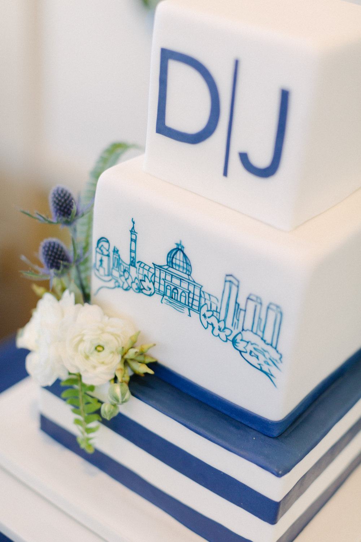 Dan & Jim's Handpainted Wedding Cake - Photo by David Abel Photography