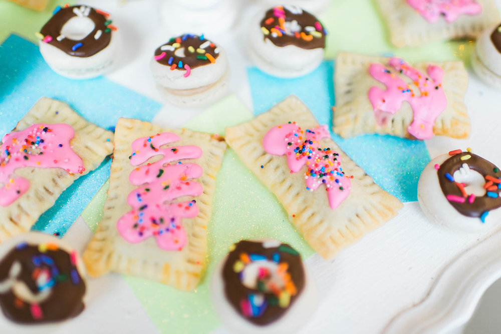 Mini Pop Tarts and Donut French Macarons