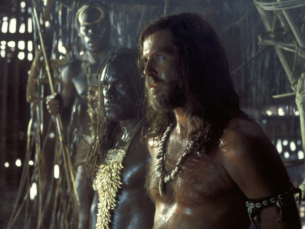 Pierce Brosnan in Robinson Crusoe
