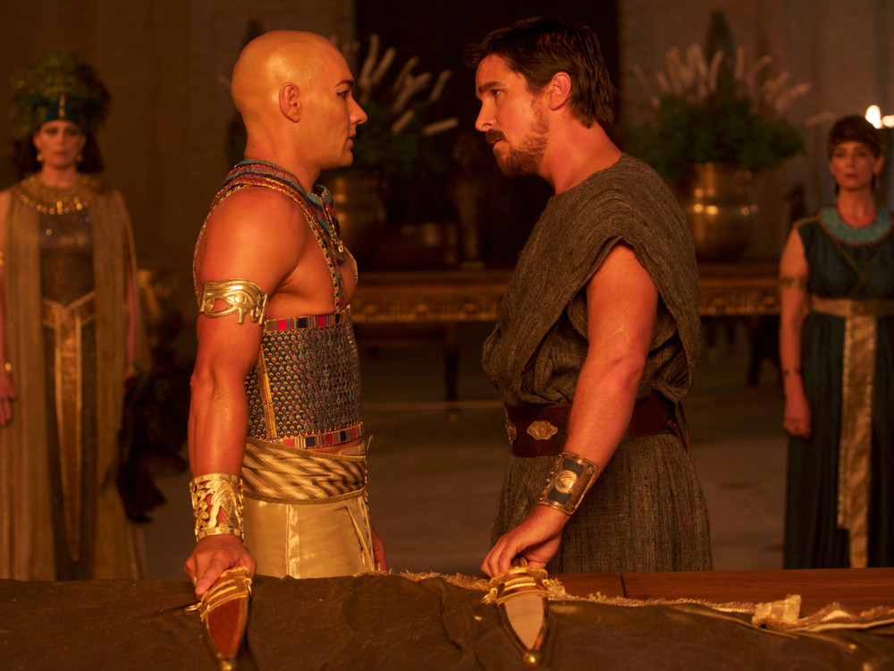 Joel Edgerton and Christian Bale in Exodus: Gods and Kings