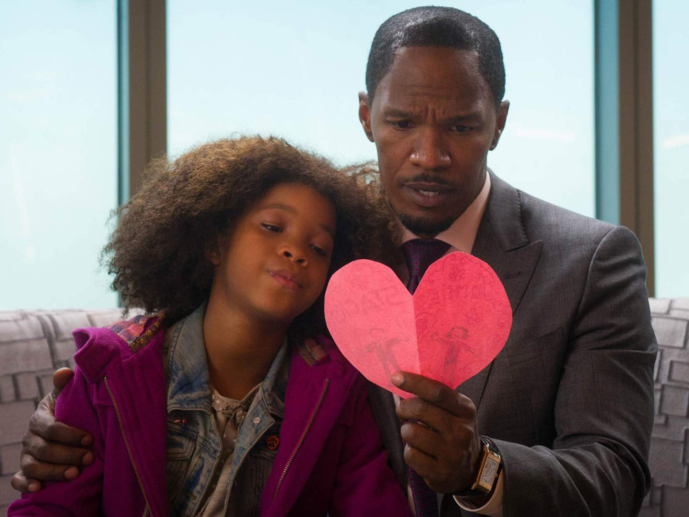 Jamie Foxx and Quvenzhane Wallis in Annie
