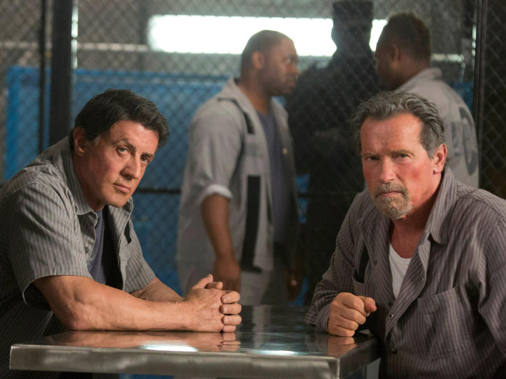 Sylvester Stallone and Arnold Schwarzenegger in Escape Plan