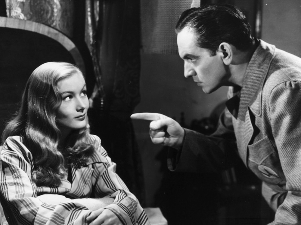 Frederic March and Veronica Lake in I Married a Witch