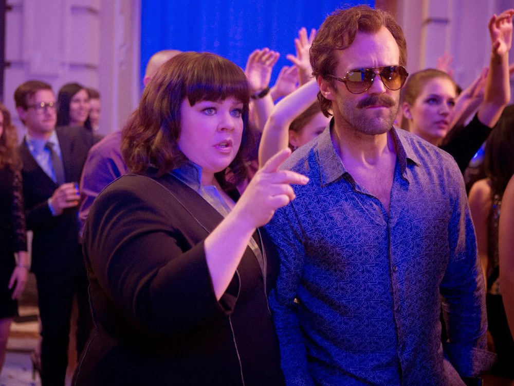 Melissa McCarthy and Jason Statham in Spy