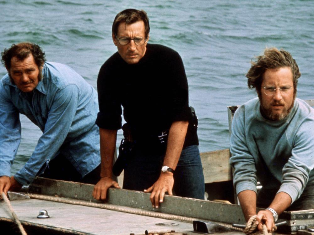 Roy Scheider, Richard Dreyfuss and Robert Shaw in Jaws