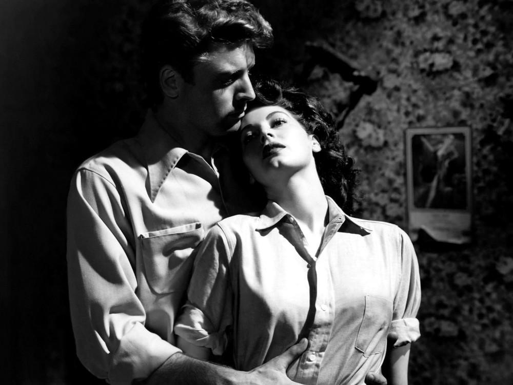 Burt Lancaster and Ava Gardner in The Killers