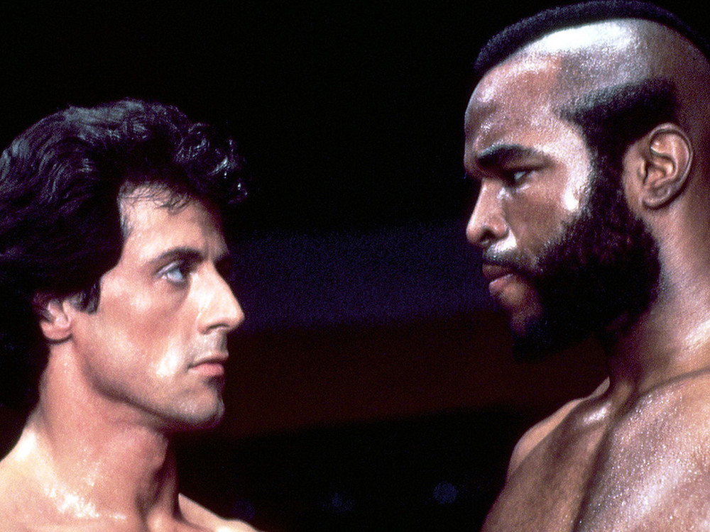 Sylvester Stallone and Mr. T in Rocky III