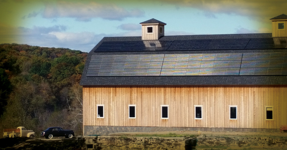 Our grand distillery barn at Harvest Homestead Farm...