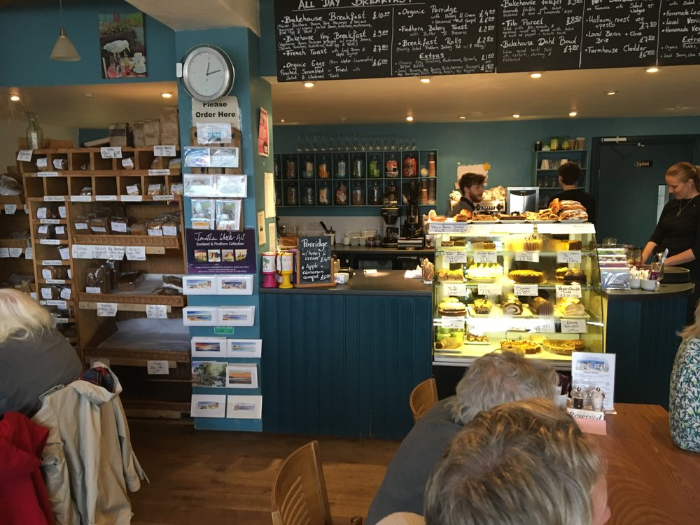 Findhorn cafe...lots of good food