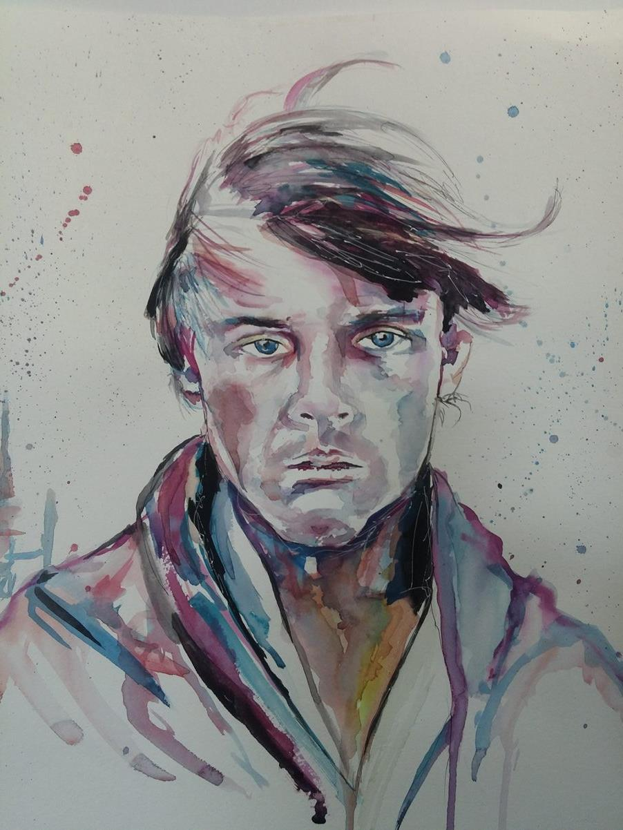 Luke Skywalker Original Watercolor