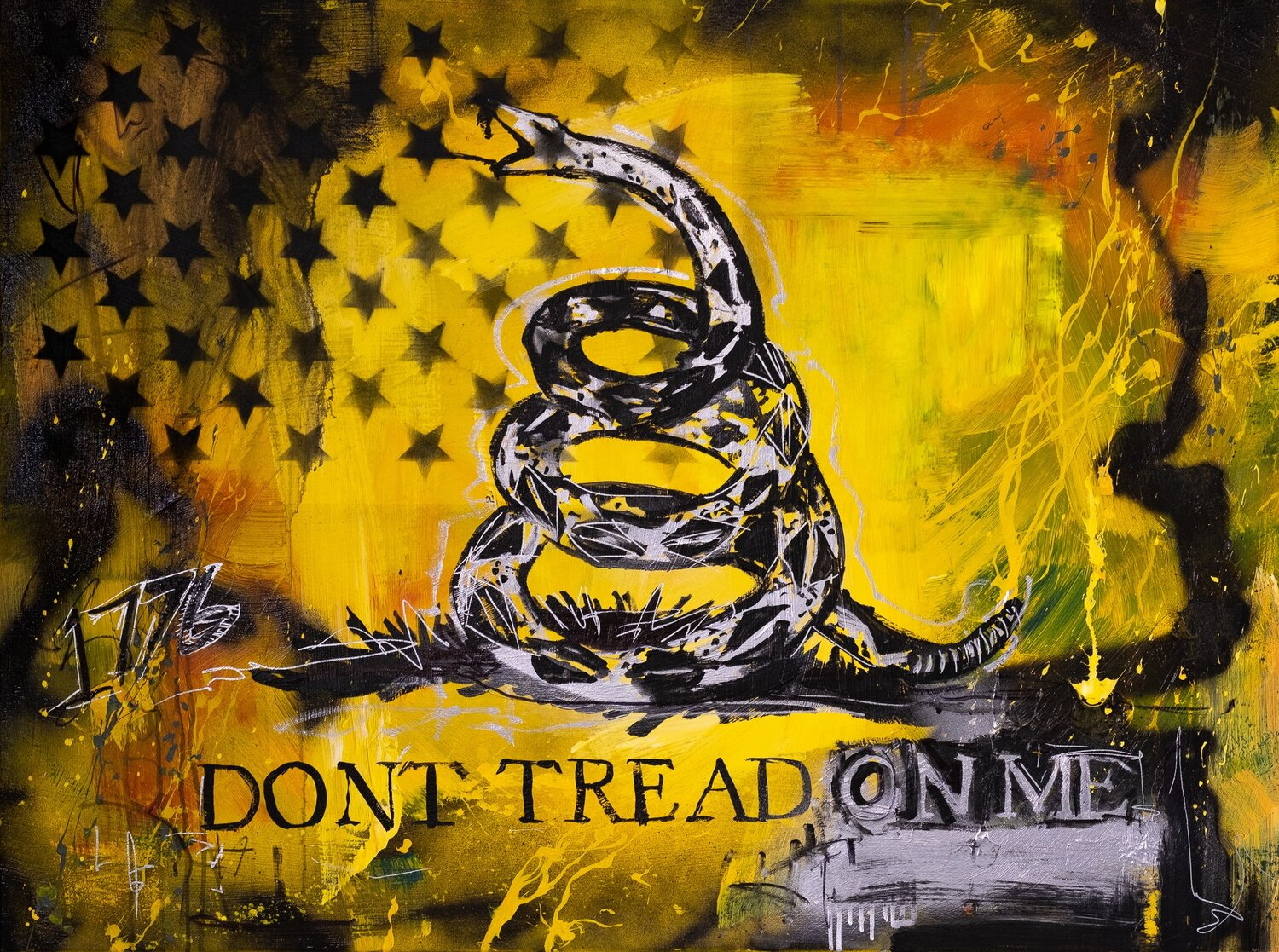 Don T Tread On Me 48 X36 Joe Everson Art