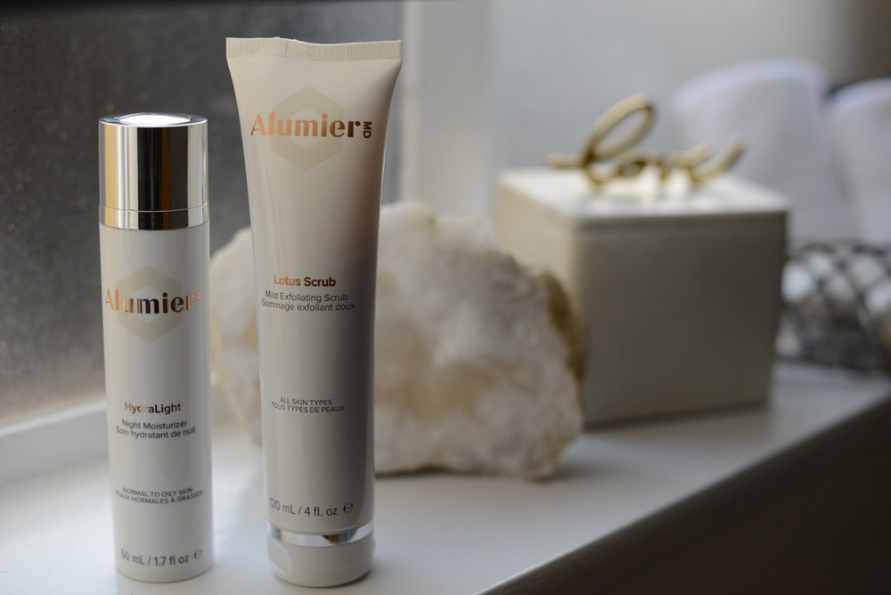 alumierMD products at the Lisa Franklin Skincare clinic