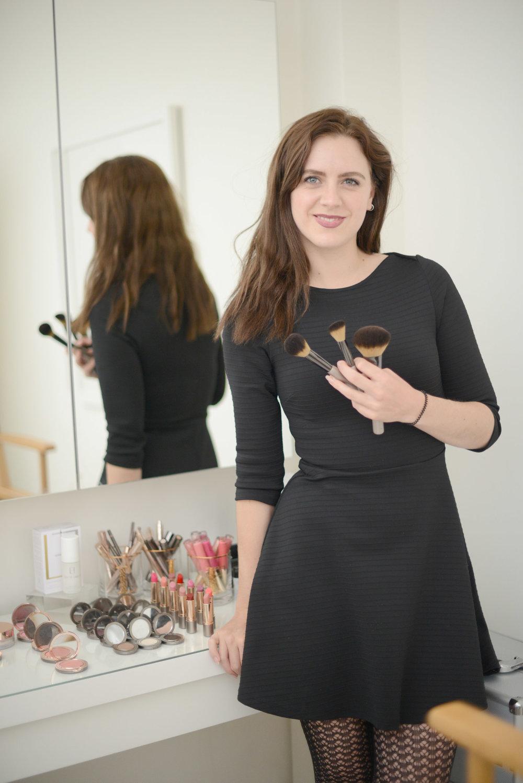 rebecca make up artist at lisa franklin skincare