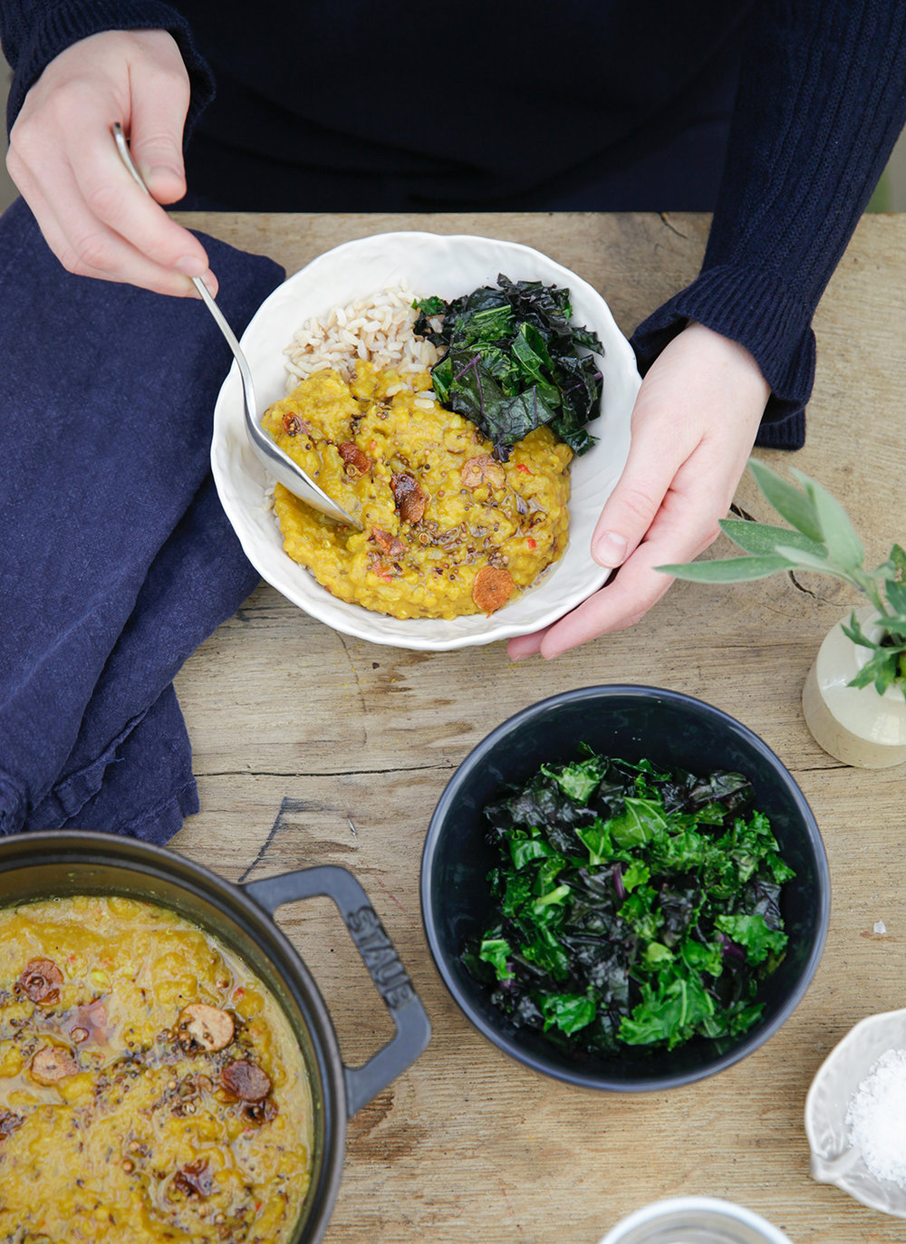 What we are eating this month - Right now we are loving this recipe from the Daylesford team. A warming dhal with butternut squash and tumeric is perfect for chilly winter nights. (serves 2-3)