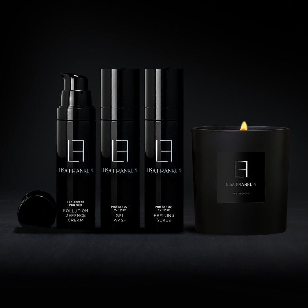 PRO-EFFECT FOR MEN - Men's skin, whilst similar to Women's has different concerns. Although Male skin is thicker and pretty resistant it undergoes a significant amount stress as a result of shaving. Additionally environmental pollutants attribute to increased irritation, sensitivity and disruption to skin barrier function, which acts as the body's first line of defence. Testosterone is also responsible for increased oil production, yet the surface of a man's skin tends to be much drier due to its thickness and reduced levels of natural moisture.The Pro-Effect for Men skincare system has been curated to control excess sebum whilst increasing hydration, and Counteract the effects of pollution aiding long-term skin health and reducing the visible signs of ageing.